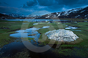 Lac De Nino, Corsica Stock Image - Image: 19769941