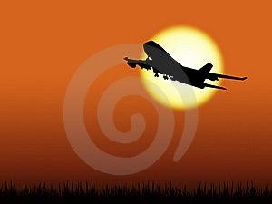 Airplane Silhouette Royalty Free Stock Photo - Image: 19770205
