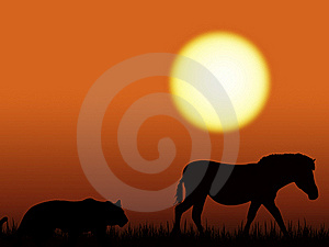 Animals Silhouette Royalty Free Stock Photography - Image: 19770277