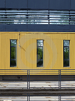 Yellow Wall Stock Image - Image: 19771621