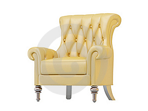 Luxurious Armchair Isolated Royalty Free Stock Images - Image: 19773079