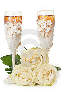 Two Glasses Of Champagne Royalty Free Stock Photography - Image: 19773887