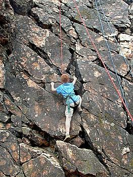 Boy Climbing On Rope Royalty Free Stock Image - Image: 19773956