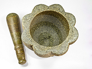 Stone Mortar And Pestle Royalty Free Stock Images - Image: 19776259