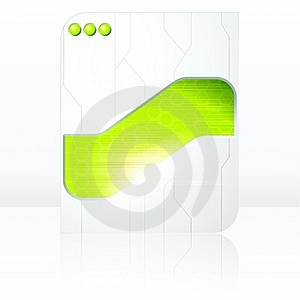 Green & White Futuristic Sign With Transparencies Stock Photos - Image: 19781073