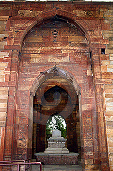 Entrance To Iltumishs Tomb At Qutub Minar, Delhi Royalty Free Stock Image - Image: 19781886