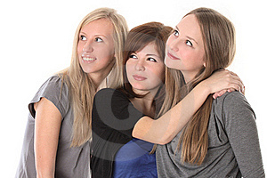 Girls Looking Up Royalty Free Stock Image - Image: 19782316