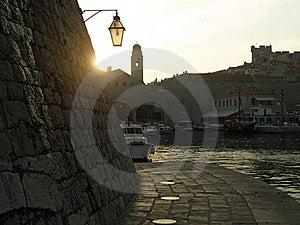 Dubrovnik Harbor At Dusk Royalty Free Stock Images - Image: 19784009