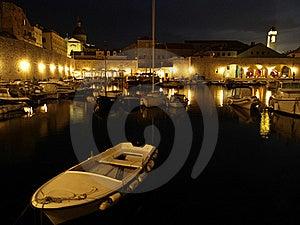 Dubrovnik Harbor At Night Royalty Free Stock Photo - Image: 19784045