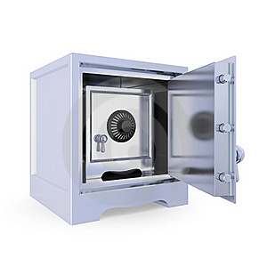 Opened Iron Safe And Another Safe Inside. Stock Photos - Image: 19784093