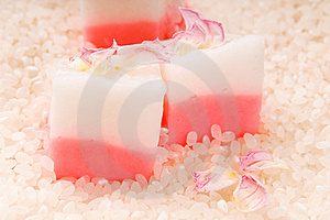 Japanese Dessert, Mochi With Rose Royalty Free Stock Images - Image: 19784139