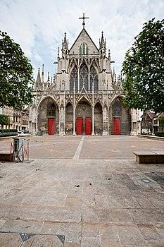 Gothic Saint-Urbain Basilica In Troyes Royalty Free Stock Images - Image: 19784739