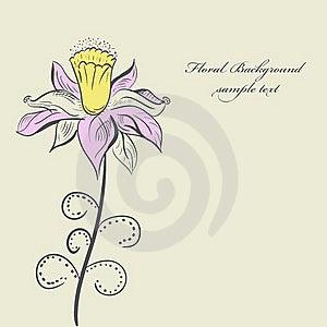 Vintage Flower Background Color Stock Photos - Image: 19785303