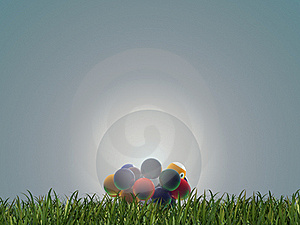 Pool Balls Inside A Glass Sphere Royalty Free Stock Image - Image: 19785976