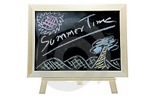Summer Time Blackboard Royalty Free Stock Photography - Image: 19791237