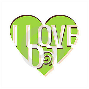 I LOVE DT Vector Royalty Free Stock Images - Image: 19793769