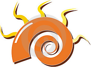 Orange Spiral Royalty Free Stock Photo - Image: 19794545