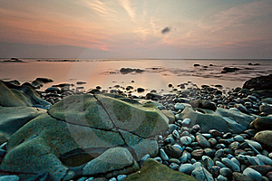 Beach And Sunset Stock Photography - Image: 19795322