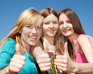 Young Girls Express Positivity Stock Photography - Image: 19795662