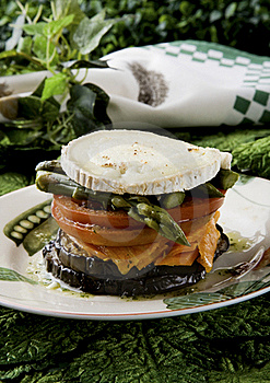 Vegetables With Goat Cheese Royalty Free Stock Image - Image: 19796836