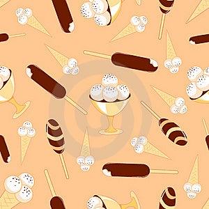 Ice-cream Seamless Pattern. Stock Image - Image: 19797301