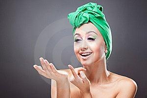 Happy Friendly Smiling Woman Invite Stock Photos - Image: 19797633
