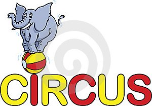 Circus Word Stock Images - Image: 19799494