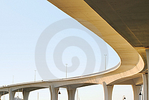 Massive Bridge Against A Blue Sky Royalty Free Stock Photo - Image: 19799695