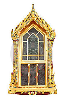 Traditional Thai Style Window Temple Royalty Free Stock Image - Image: 19800276