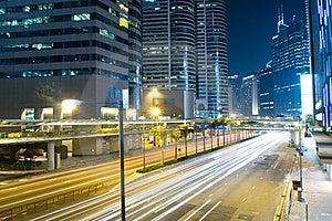 Modern City Traffic Night Stock Photo - Image: 19803110