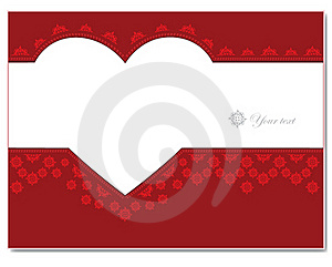 Ornament Card With Heart Royalty Free Stock Images - Image: 19806549