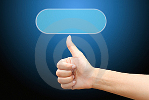 Hand Pushing On A Touch Screen Interface Stock Photography - Image: 19807192