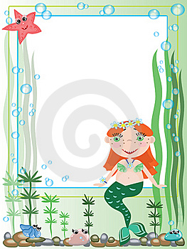 Mermaid,frame Royalty Free Stock Photo - Image: 19808725