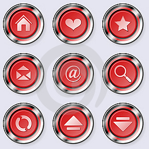 A Set Of Round Internet Buttons Stock Photo - Image: 19812750