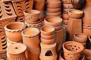 Brown Ceramic Pottery Stock Image - Image: 19814191