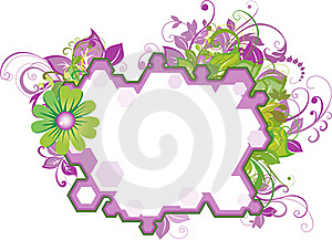 Floral Text Place Stock Photo - Image: 19815000