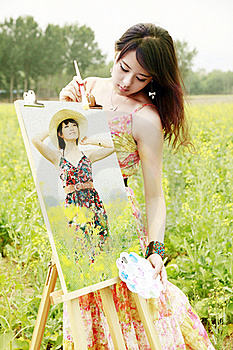 Young Female Artist Royalty Free Stock Images - Image: 19815119
