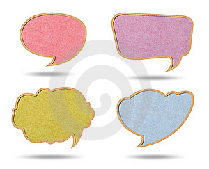Speech Bubbles From Recycle Paper Royalty Free Stock Photos - Image: 19817308