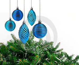 Blue Christmas Decoration Royalty Free Stock Images - Image: 19819649