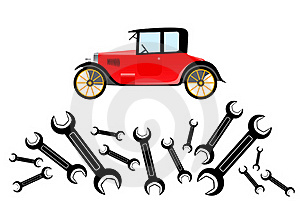 Repair Of Old Car Royalty Free Stock Photography - Image: 19823057