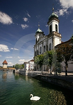 Lucerne Jesuit Church Royalty Free Stock Images - Image: 19824539