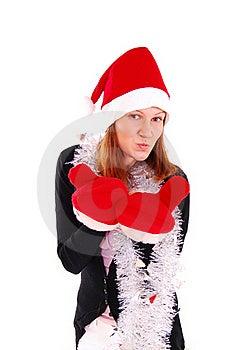 Beautiful Sexy Girl Wearing Santa Claus Clothes. Stock Image - Image: 19825321