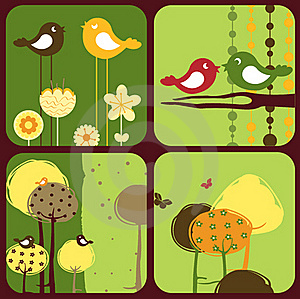 Of Style Design Greeting Cards Royalty Free Stock Image - Image: 19825586