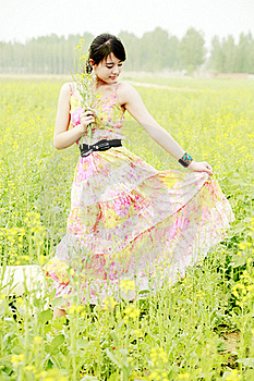 Chinese Girl Outdoor Stock Images - Image: 19825914