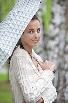 Young Woman With Umbrella Stock Photography - Image: 19826602