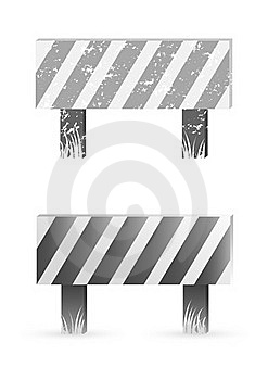 Construction Barrier Stock Photo - Image: 19829730