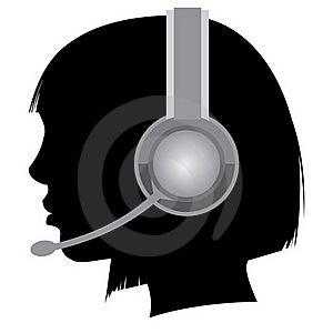 Girl With Headphones Stock Photos - Image: 19831463