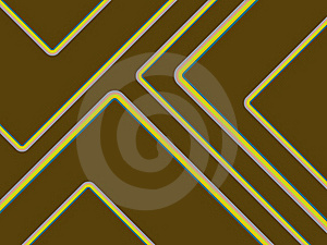 Retro Stripes On Brown Royalty Free Stock Image - Image: 19831876