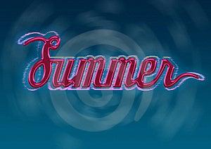 Het Ontwerp Van De Typografie Van De Zomer Stock Fotografie - Afbeelding: 19832042