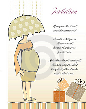 New Baby Shower Invitation Stock Images - Image: 19832624